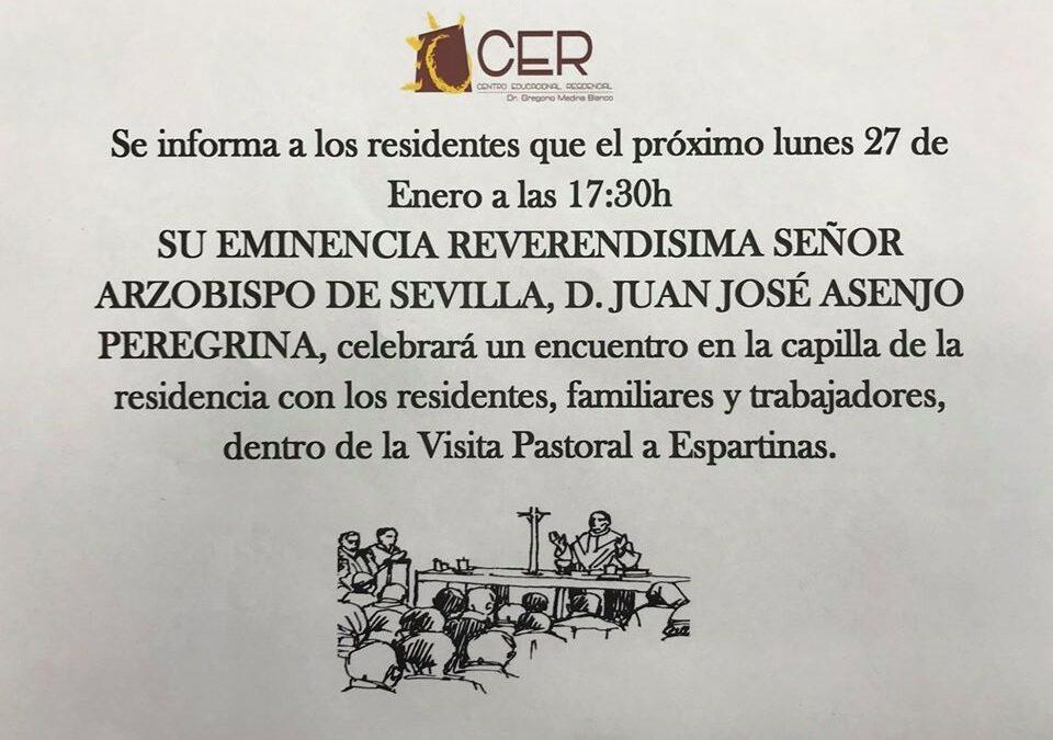 VISITA DE SU EMINENCIA REVERENDÍSIMA SEÑOR ARZOBISPO DE SEVILLA, D. JUAN JOSÉ ASENJO PEREGRINA